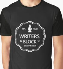 Writers Block - Distressed Text Graphic T-Shirt