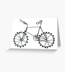 Handmade Miniature Wire Bicycle  Greeting Card