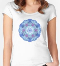 Royal Blue and Purple Mandala Women's Fitted Scoop T-Shirt