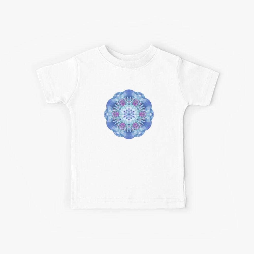 Royal Blue and Purple Mandala Kids T-Shirt