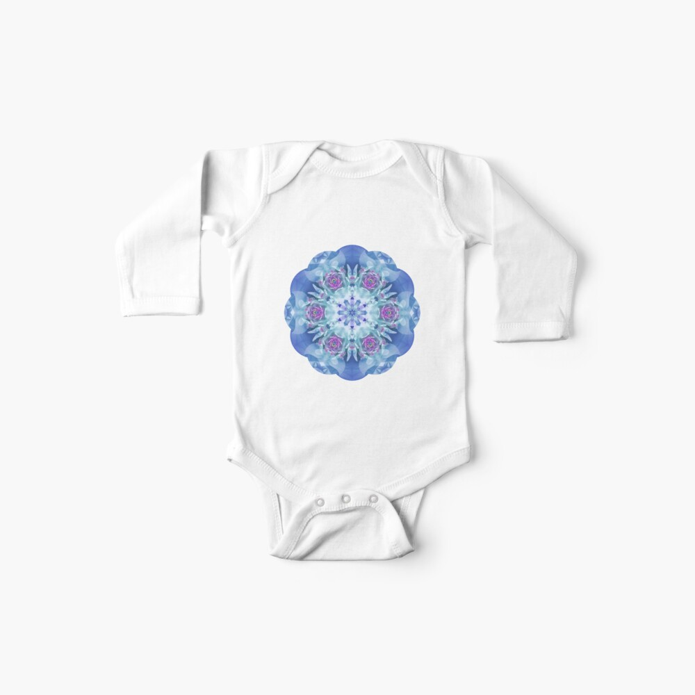 Royal Blue and Purple Mandala Baby One-Pieces