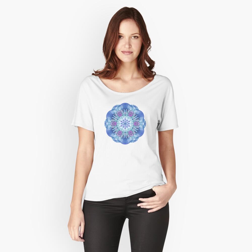 Royal Blue and Purple Mandala Relaxed Fit T-Shirt
