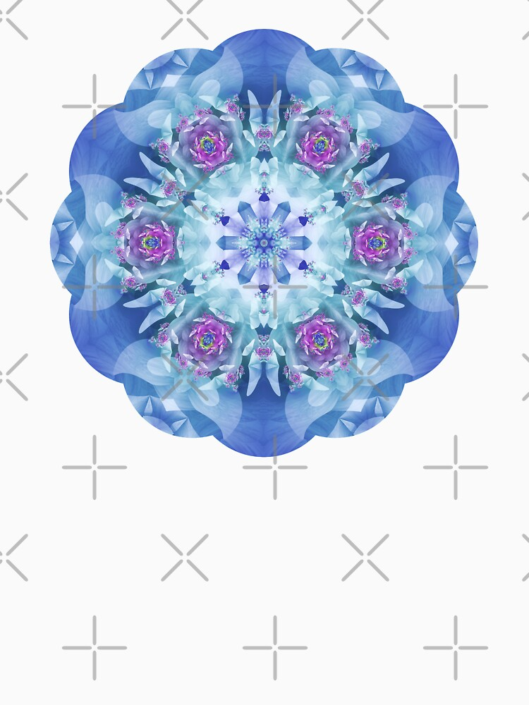 Royal Blue and Purple Mandala by kellydietrich