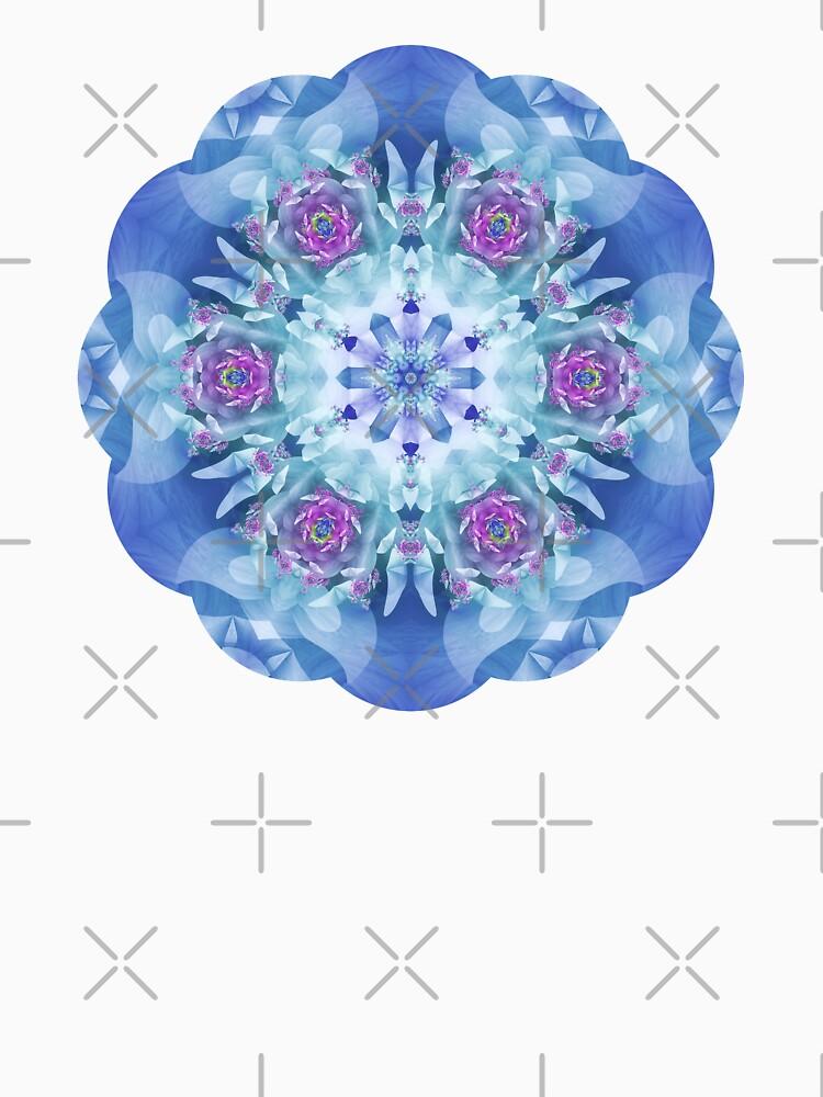 Royal Blue and Purple Mandala by kellydietrich