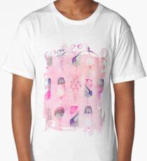 Soft Pastel Watercolor Ice Cream Cones Long T-Shirt