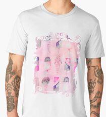 Soft Pastel Watercolor Ice Cream Cones Men's Premium T-Shirt
