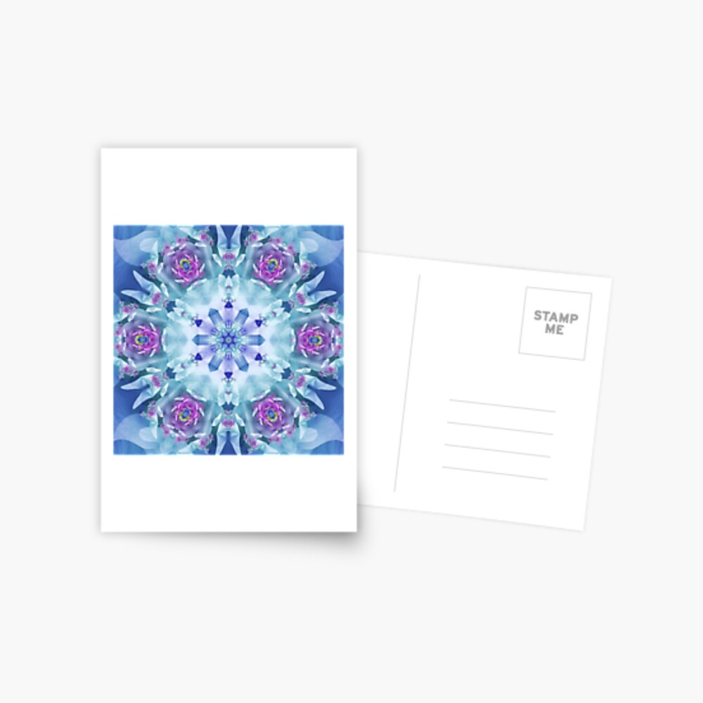 Royal Blue and Purple Mandala Postcard