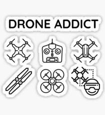 Drone addict Sticker