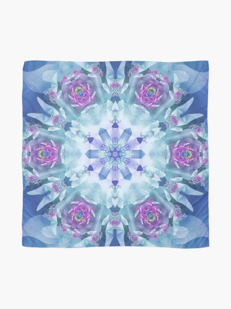 Alternate view of Royal Blue and Purple Mandala Scarf