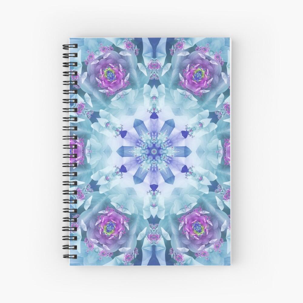 Royal Blue and Purple Mandala Spiral Notebook