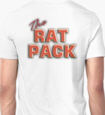The Rat Pack, Singers, Music, Crooners, Frank Sinatra, Sammy Davis, Dean Martin. STACK, on White T-Shirt
