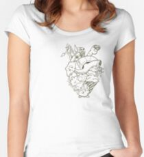 The Poison Heart Women's Fitted Scoop T-Shirt