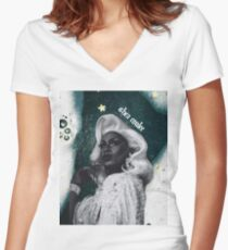 Shea Coulee Shirt Women's Fitted V-Neck T-Shirt