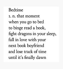 bedtime Photographic Print