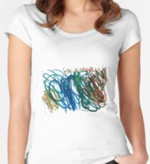 Colour Spirals by Chris Women's Fitted Scoop T-Shirt