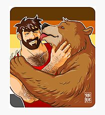 BEAR KISS - BEAR PRIDE Photographic Print