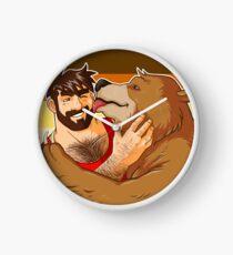 BEAR KISS - BEAR PRIDE Clock