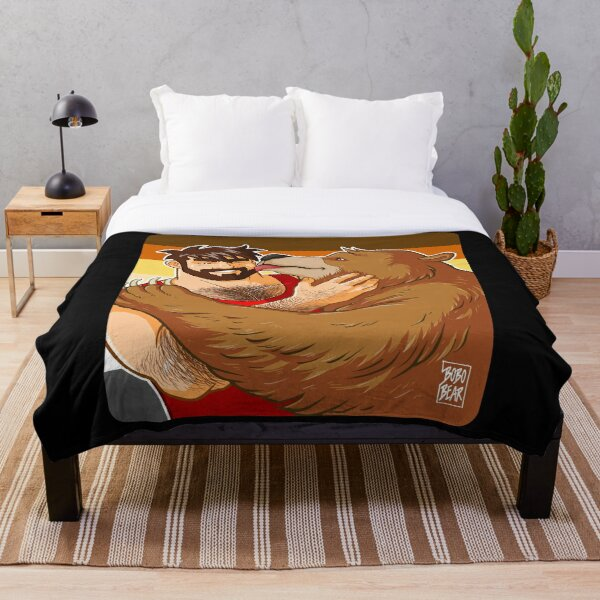 BEAR KISS - BEAR PRIDE Throw Blanket