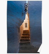 Daybreak in the backstreet alley, Patmos, Dodecanese Islands Poster