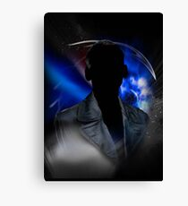 9th Doctor Silhouette Canvas Print