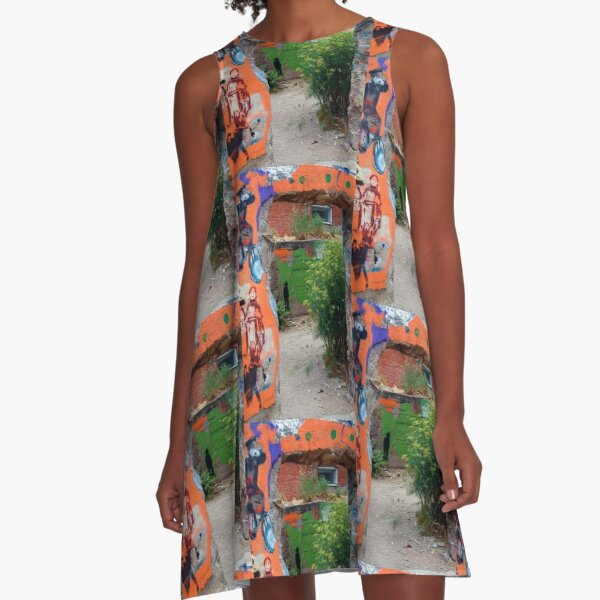 Hole in the Wall A-Line Dress
