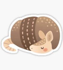 Sleepy Armadillo Sticker