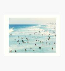 Coastal, Beach art, Blue Water, Sea, Ocean Art Print