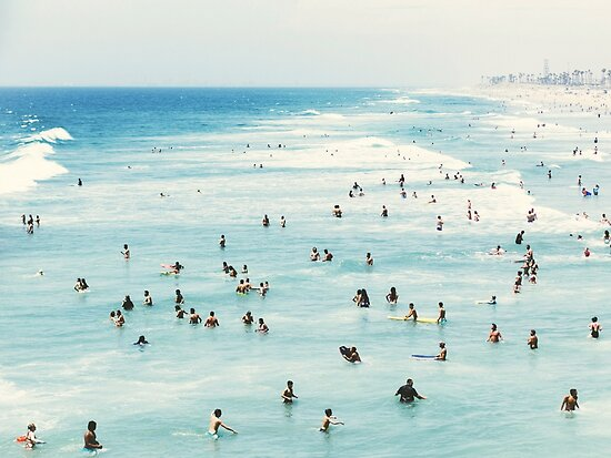 « Côtier, Art plage, Eau bleue, Mer, Océan » par Julia Emelianteva