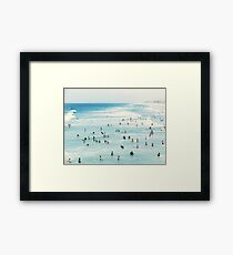 Coastal, Beach art, Blue Water, Sea, Ocean Framed Print