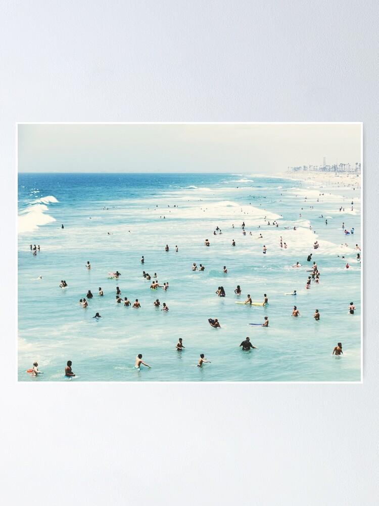 Alternate view of Coastal, Beach art, Blue Water, Sea, Ocean Poster