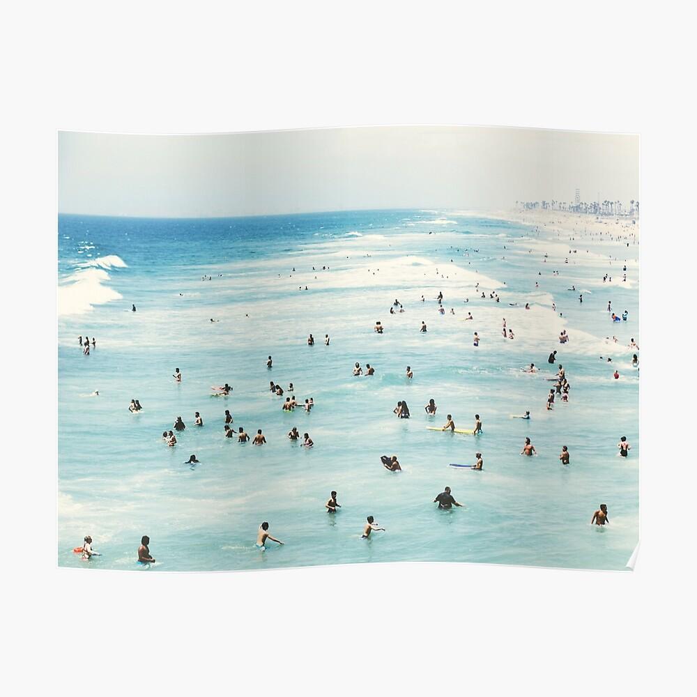 Küsten-, Strandkunst, blaues Wasser, Meer, Ozean Poster