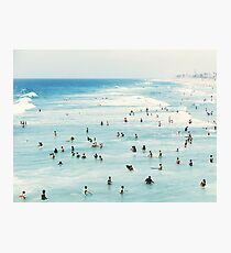 Coastal, Beach art, Blue Water, Sea, Ocean Photographic Print