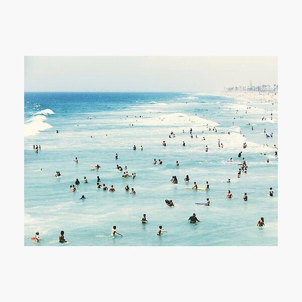 Coastal, Beach art, Blue Water, Sea, Ocean Photographic Print