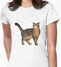 Sketchy Cat Womens Fitted T-Shirt