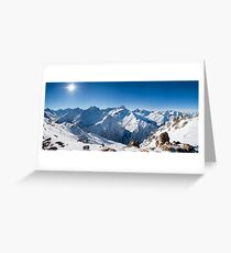 Sunshine in the Alps Greeting Card