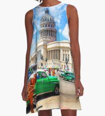 Capitol Building Havana Cuba A-Line Dress