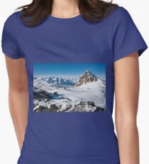 Alpine snowy peaks, France, Europe Womens Fitted T-Shirt