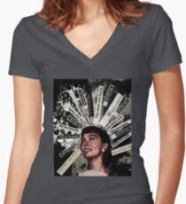"Original Collage - ""What People Think""  Women's Fitted V-Neck T-Shirt"