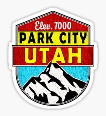 PARK CITY UTAH MOUNTAINS SKIING SKI SNOWBOARD CAMPER BIKE DECAL Sticker
