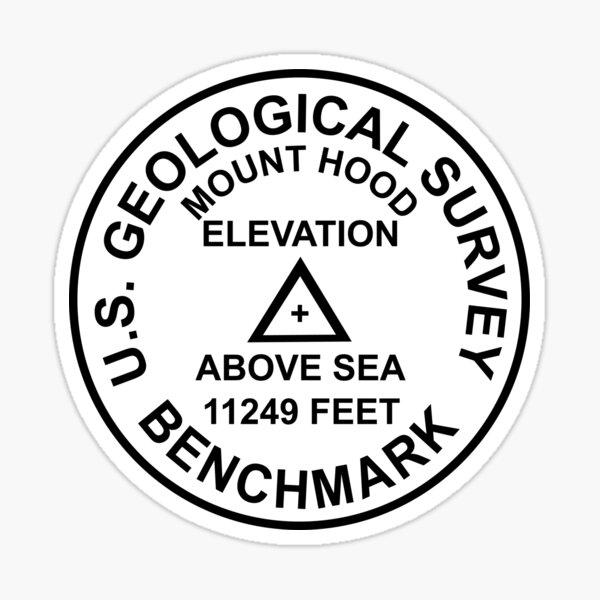 Berg-Haube, Oregon USGS-Art-Benchmark Sticker