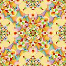 Pastel Rainbow Mandala by PatriciaSheaArt