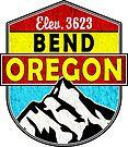 BEND OREGON MOUNT BACHELOR Mountain Skiing Ski Snowboard Snowboarding 2 by MyHandmadeSigns