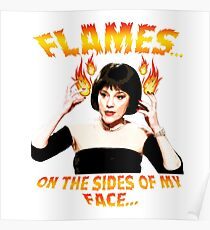 Clue Mrs White Flames Poster