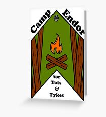 Camp Endor Greeting Card