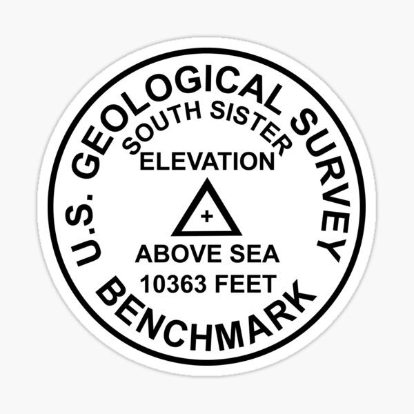 Südschwester, Oregon USGS Style Benchmark Sticker