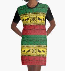 Afrikanisches traditionelles Muster Löwen rasta T-Shirt Kleid