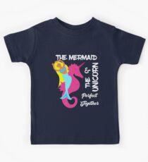 Cute Mermaid Beach Themed Slogan Design Kids Clothes