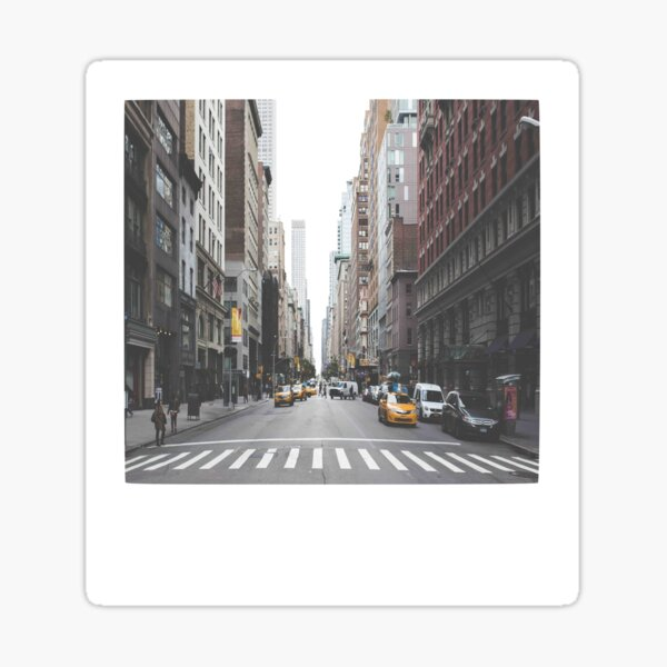 Polaroid de Nueva York Pegatina