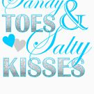 turquoise beach typography Sandy Toes Salty Kisses by lfang77