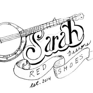 Sarah Red Shoes Hand-Lettered Logo by SarahRedShoes